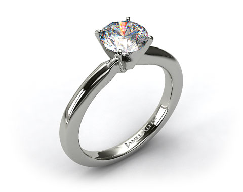 Platinum 2mm Comfort Fit Solitaire Engagement Ring